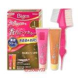 ●送料無料 ビゲン 香りのヘアカラー クリーム 白髪染め 早染めタイプ 1 かなり明るいライトブラウン Bigen hoyu