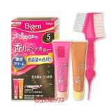 ●送料無料 ビゲン 香りのヘアカラー クリーム 白髪染め 早染めタイプ 5 ブラウン Bigen hoyu