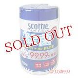 日本製紙クレシア スコッティ ウェットティシュー 除菌 アルコールタイプ 100枚 scottie