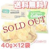 ●送料無料 ナチュラル カルビー(Natural Calbee) ポテトチップス フレンチサラダ味 40g×12袋 ケース販売