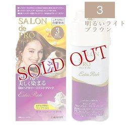 画像1: ダリヤ サロンドプロ 泡のヘアカラー エクストラリッチ(白髪用) 3 明るいライトブラウン SALON de PRO DARIYA